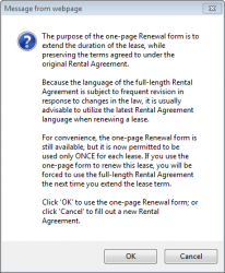 renewing a lease